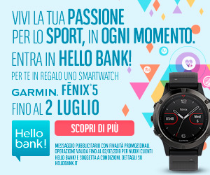 Promozione Hello bank! Garmin Fenix