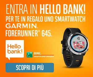 Promozione Hello bank! Garmin Forerunner