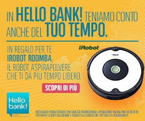 Promozione iRobot Roomba Hello bank!