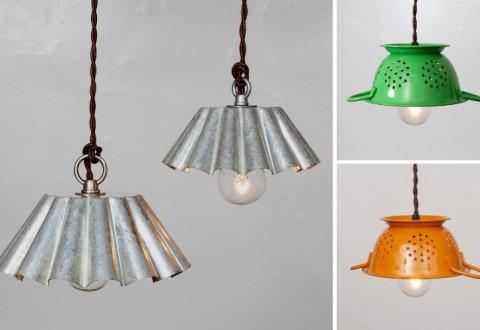 Scolapasta lampadario laboratori fa la cosa giusta for Regalo oggetti vecchi