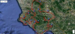 Viaggi in bicicletta - mappa dell'itinerario della Via Silente