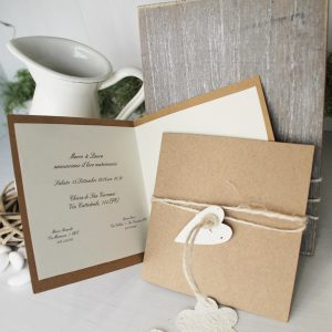 Partecipazioni Matrimonio green con carta che germoglia