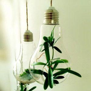 porta piante da interno in vetro
