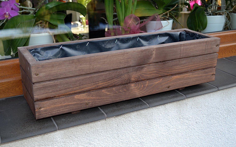 sottovaso in legno per piante e fiori da balcone o terrazzo