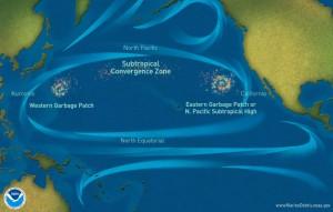 isole di spazzatura oceano pacifico