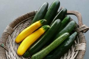 Zucchine verdura di stagione di Aprile