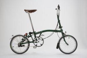 Bicicletta Brompton Racing Green Aperta