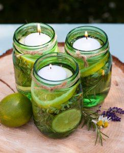 aceto di vino e fette di limone come repellente antizanzare naturale