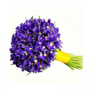 bouquet da sposa invernale con iris