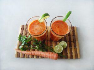centrifugato carota, mango, arancia
