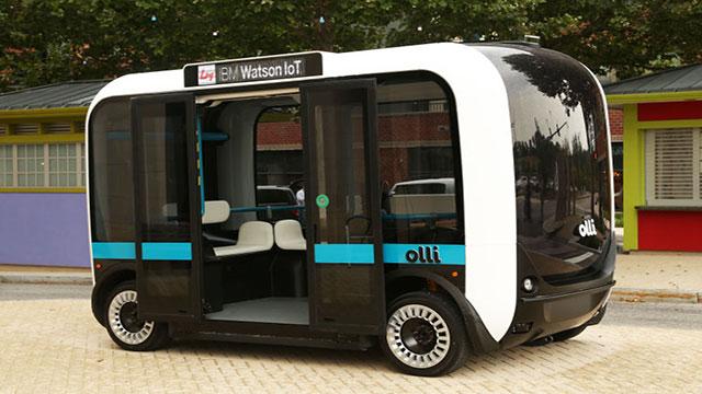 Olli è il primo bus elettrico senza guidatore