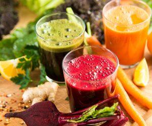 succhi di frutta e verdura freschi e sani