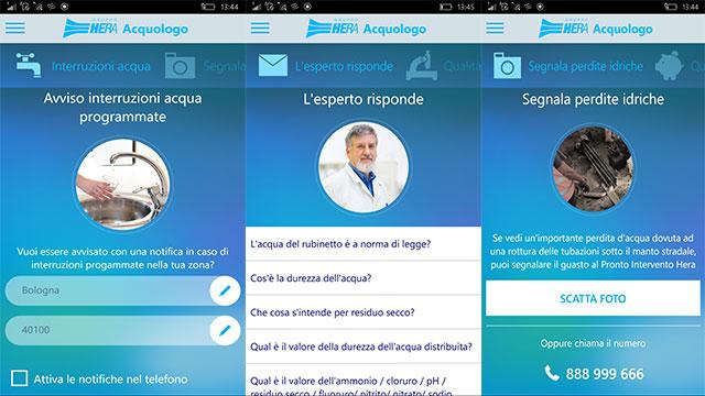 acquologo app per consumo idrico