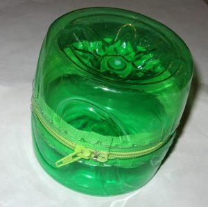 porta oggetti riciclo bottiglie di plastica