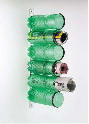 portariviste riciclo bottiglie di plastica