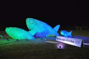 trittico pesci riciclo creativo bottiglie di plastica