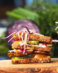 club sandwich vegan man