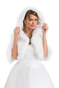 copri spalle nunziale in pelliccia ecologica