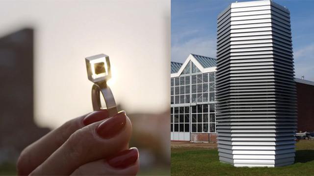 smog free tower a pechino una torre che trasforma lo smog in gioielli