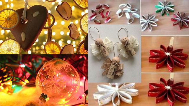 10 decorazioni natalizie per l 39 albero di natale fai da te for Idee per centrotavola di natale