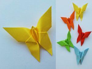 farfalle e stelle origami decorazioni natalizie