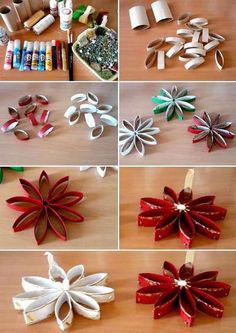 margherite cartone decorazioni natalizie