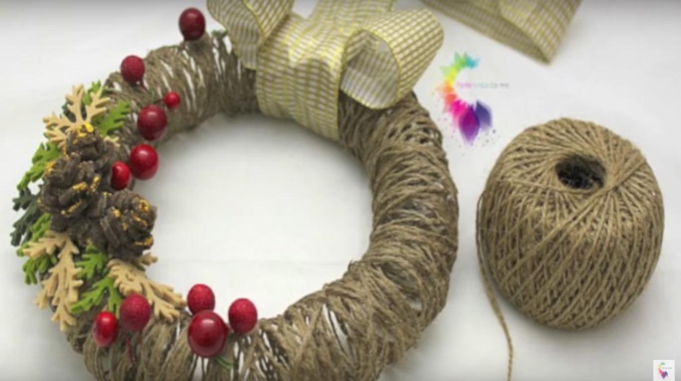Mini ghirlande natalizie fai da te - Idee decorazioni natalizie fai da te ...