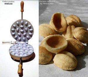 macchina per fare i biscotti a forma di gusci di noce