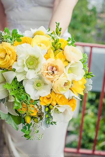 bouquet da sposa giallo e bianco