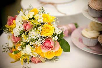 bouquet da sposa giallo
