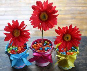 centrotavola fai da te pasquali con fiori