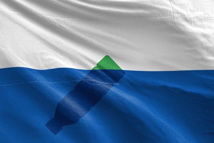 bandiera dell'Isola di Spazzatura del Pacifico