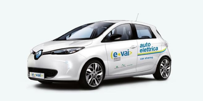 Car sharing elettrico E-Vai Milano