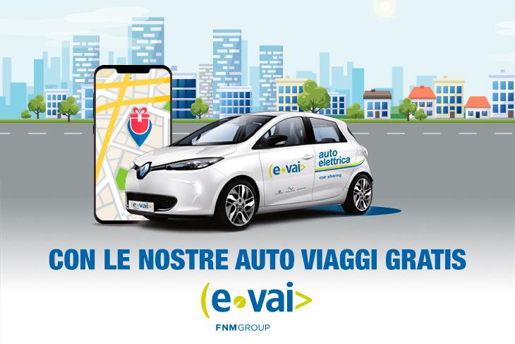 Car sharing elettrico E-Vai promo 2020