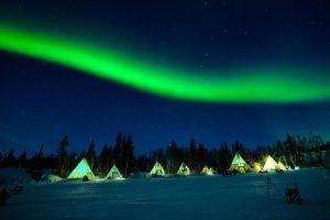dove vedere l'aurora boreale in canada