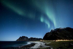 dove vedere l'aurora boreale alle isole loften