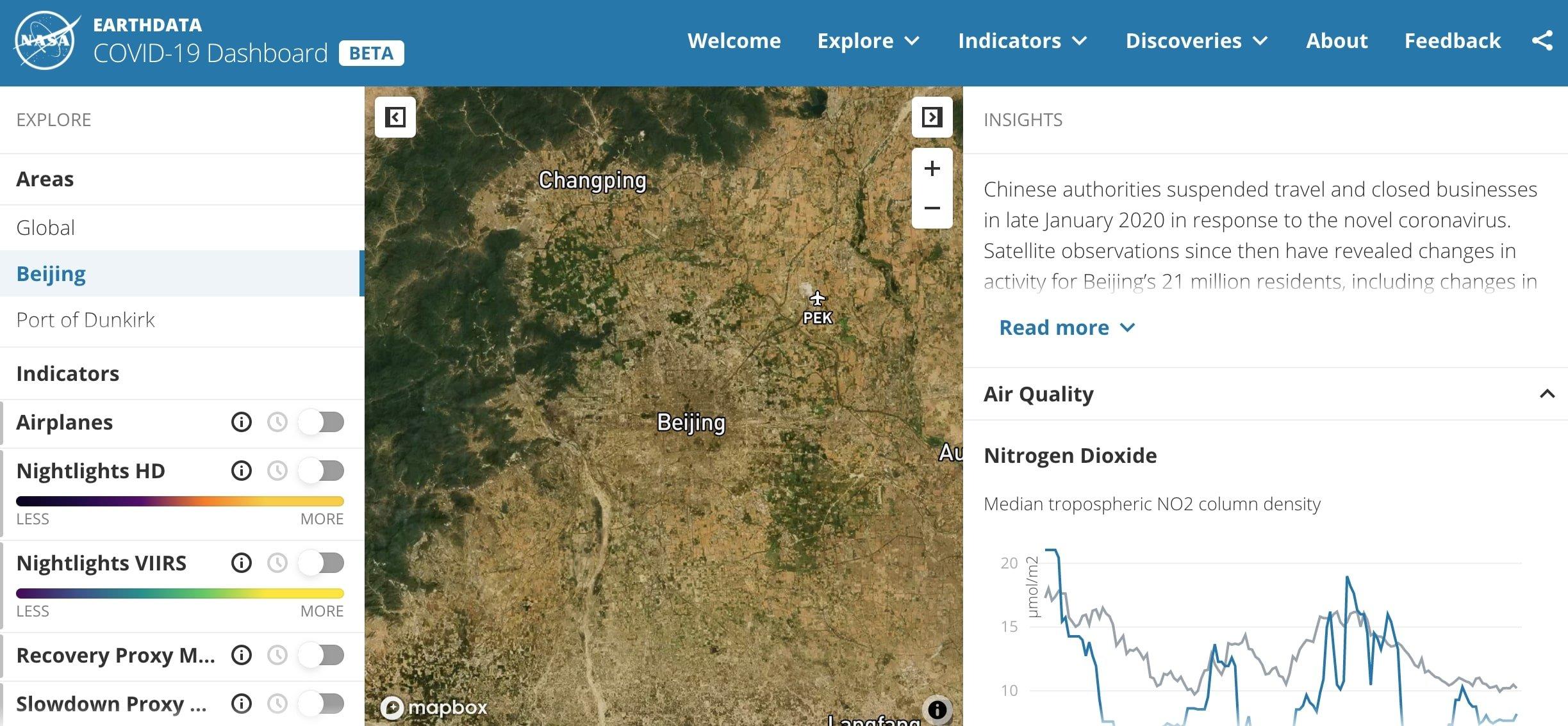 inquinamento atmosferico oggi satelliti nasa
